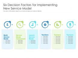 Six Decision Factors For Implementing New Service Model