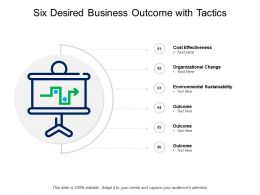 Six Desired Business Outcome With Tactics