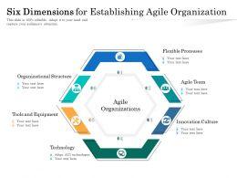 Six Dimensions For Establishing Agile Organization
