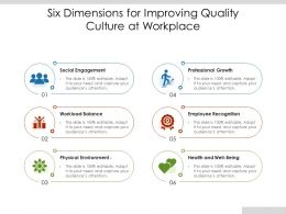 Six Dimensions For Improving Quality Culture At Workplace