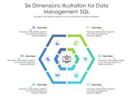 Six Dimensions Illustration For Data Management SQL Infographic Template