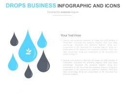 Six Drops Business Infographics And Icons Flat Powerpoint Design
