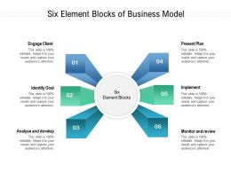 Six Element Blocks Of Business Model