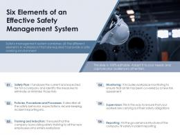 Six Elements Of An Effective Safety Management System
