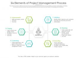 Six Elements Of Project Management Process