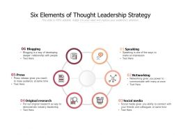 Six Elements Of Thought Leadership Strategy