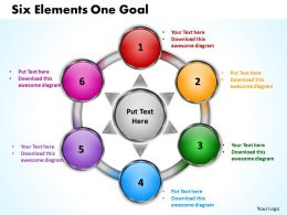 six elements one goal powerpoint templates graphics slides 0712