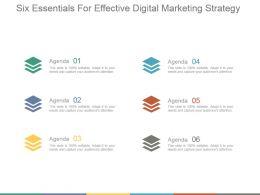 Six Essentials For Effective Digital Marketing Strategy Powerpoint Slides