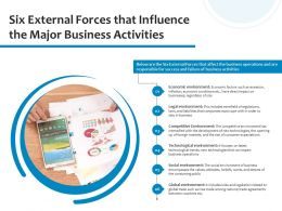 Six External Forces That Influence The Major Business Activities