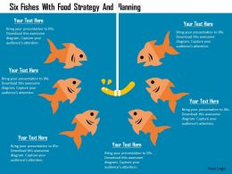Six Fishes With Food Strategy And Planning Flat Powerpoint Design