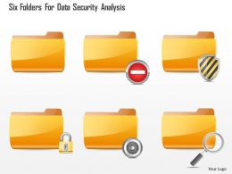 Six Folders For Data Security Analysis Ppt Slides