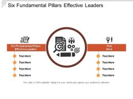 Six Fundamental Pillars Effective Leaders Ppt Powerpoint Presentation File Master Slide Cpb