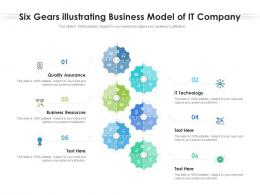 Six Gears Illustrating Business Model Of IT Company