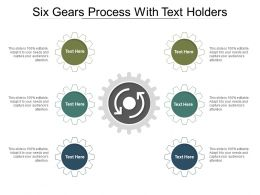 Six Gears Process With Text Holders