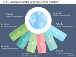Six Global Marketing Techniques For Business Flat Powerpoint Design