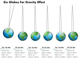 Six Globes For Gravity Effect Ppt Presentation Slides
