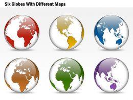 six_globes_with_different_maps_ppt_presentation_slides_Slide01