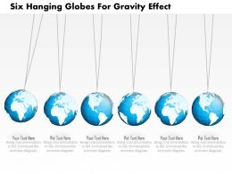 Six Hanging Globes For Gravity Effect Ppt Presentation Slides