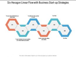 Six Hexagon Linear Flow With Business Start Up Strategies
