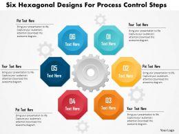 Six Hexagonal Designs For Process Control Steps Powerpoint Template