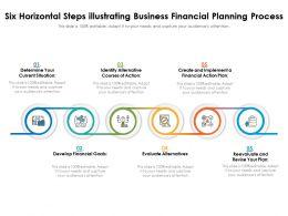 Six Horizontal Steps Illustrating Business Financial Planning Process