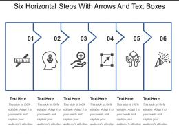 six_horizontal_steps_with_arrows_and_text_boxes_Slide01