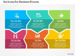 Six Icons For Business Process Flat Powerpoint Design