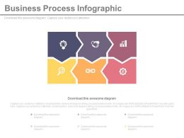 Six Icons For Business Process Infographics Powerpoint Slides