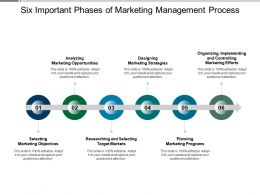 Six Important Phases Of Marketing Management Process
