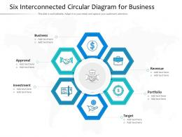 Six Interconnected Circular Diagram For Business