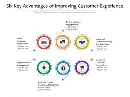 Six Key Advantages Of Improving Customer Experience