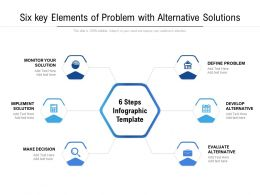 Six Key Elements Of Problem With Alternative Solutions