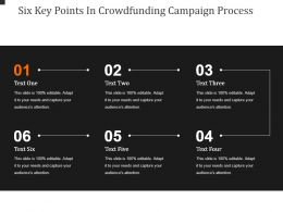 Six Key Points In Crowdfunding Campaign Process Powerpoint Slide Information