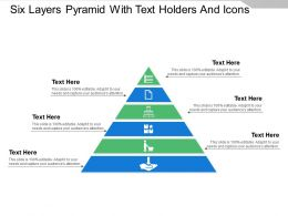 Six Layers Pyramid With Text Holders And Icons