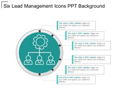 Six Lead Management Icons Ppt Background