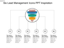 Six Lead Management Icons PPT Inspiration