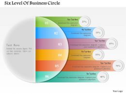 Six Level Of Business Circle Powerpoint Templates