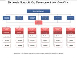 Six Levels Nonprofit Org Development Workflow Chart