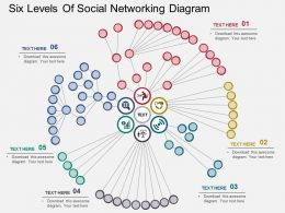 six_levels_of_social_networking_diagram_flat_powerpoint_design_Slide01