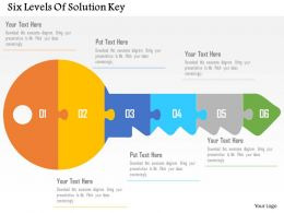 Six Levels Of Solution Key Flat Powerpoint Design