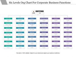 Six Levels Org Chart For Corporate Business Functions