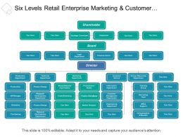 Six Levels Retail Enterprise Marketing And Customer Service Org Chart