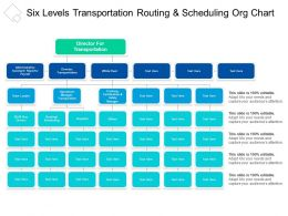 Six Levels Transportation Routing And Scheduling Org Chart1