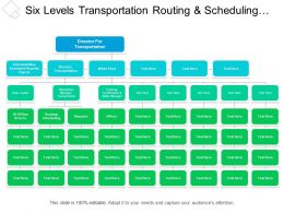 Six Levels Transportation Routing And Scheduling Org Chart
