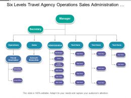 Six Levels Travel Agency Operations Sales Administration Org Chart