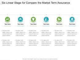 Six Linear Stage For Compare The Market Term Assurance Infographic Template