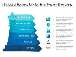 Six List Of Business Risk For Small Medium Enterprises