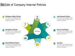 Six List Of Company Internal Policies