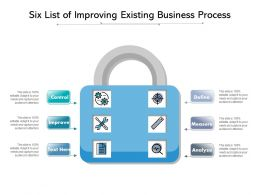 Six List Of Improving Existing Business Process
