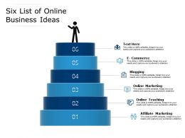 Six List Of Online Business Ideas